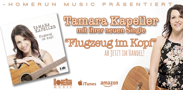 """Die neue Single """"Flugzeug im Kopf"""" von Tamara Kapeller <small class=""""subtitle"""">ab jetzt im Handel!</small>"""