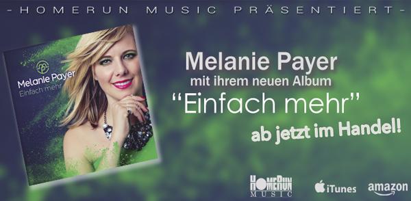 """Melanie Payers neues Album """"Einfach mehr"""" <small class=""""subtitle"""">Ab jetzt im Handel erhältlich!</small>"""