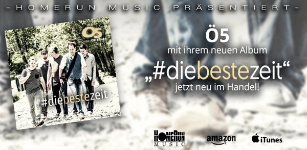 """Ö5 – """"#diebestezeit"""" <small class=""""subtitle"""">Ab jetzt im Handel!</small>"""